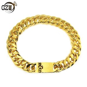 New Fashion Luxury Designer Mens Gold Cuban Link Chain Bracelets Hip Hop Rapper Chains Bracelet Jewelry Christmas Gift for Men Guys for Sale