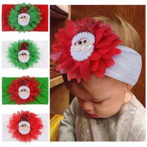 baby Nylon Headband Christmas hair band Santa Claus Headwear little Baby Fashion Hot children girl hair Accessories Elastic Headbands