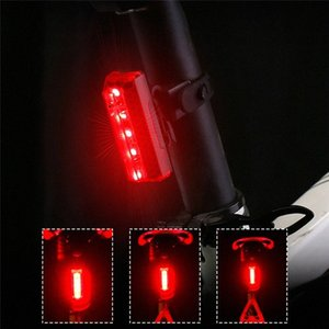 USB LED ricaricabile Mountain Bike Tail Attenzione Luce Fanale posteriore di sicurezza della bicicletta della luce posteriore di notte a cavallo coda-lampada s cenq #