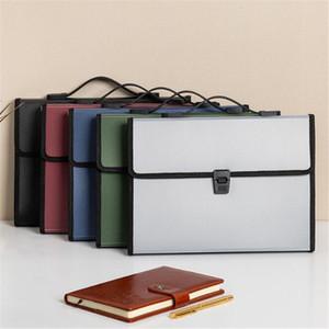 Portátil acordeão Expansão de pasta de arquivos Document Organizer Portfolio Titular 13 Pockets A4 Tamanho grande capacidade Depósito Bag