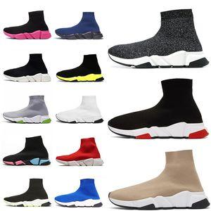 Balenciaga sock  mens sapatilhas das mulheres plataforma tripler Etoile do vintage Graffiti meias sapatos casuais mulheres ankle boots