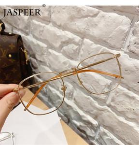 Cristal JASPEER Vintage Plaza ordenador Lentes anti Blue Ray Mujeres de ojos azul claro El bloqueo de los hombres Gafas capítulos ópticos Moda