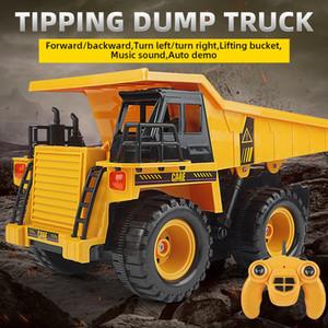 Cool Children Remote control engineering vehicle Children Remote Control Tilt dump Truck model Kid Birthday Gift