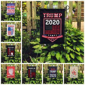 30 * 45CM Trump Jardim Bandeira 2020 Novo Design Amercia o presidente Campanha Banners Faça América Great Again poliéster Bandeiras Banners VT1459
