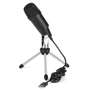 C-330 USB Kondensatormikrofon Professionelle Wired Studio Karaoke Mic für PC-Videoaufzeichnung Msn mit Stativ