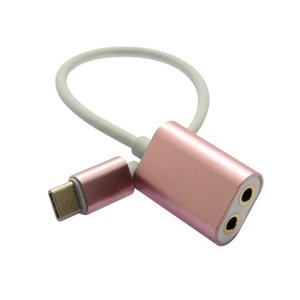 24cm 타입 C로 3 .5mm 오디오 헤드폰 스테레오 커넥터 USB -C 오디오 마이크 여성 어댑터