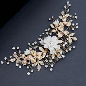 ACRDDK Handmade Luxury Rhinestone Flower Alloy Hair Comb Women Hair Clip Pin Bride Jewelry Women Accessories SL