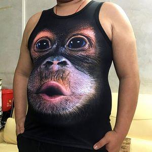 Lustiger Gorilla-shirts neue T-Shirts Orang-Utan Mode Mann lustiger Affe 3D-Tier Shirts T-Stücke Tops Junge Herren Druck 3D fz8142