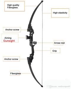 Professional Recurve Bow 30-45 lbs Powerful Hunting Archery Bow Arrow caça ao ar livre tiro treinamento Pesca engrenagem tática