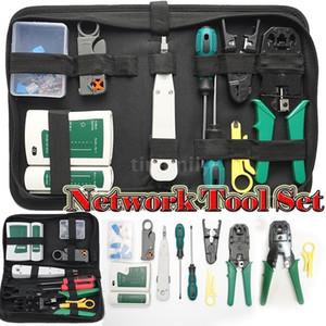 Ethernet Network Hardware Sac Tool Network LAN Câble de sertissage Câblure Pince à sertir Kit Réparation Touteur d'outils Câbles Testeur