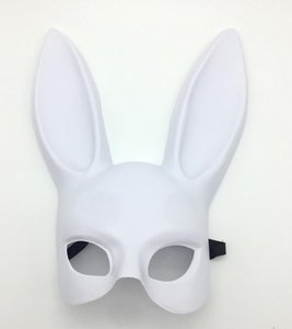 Moda Kadınlar Kız Parti Cosplay Sevimli Komik Cadılar Bayramı Dekorasyon Bar Nightclub Kostüm Tavşan Kulakları Maske