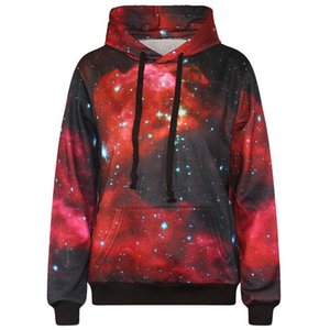 Space Galaxy hooded hoodies men print 3d sweatshirt with pockets stars fashion outwear sports tracksuits tops