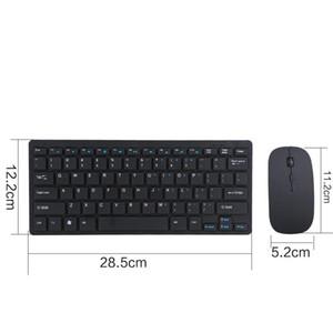 Бесплатная доставка 2 .4g Беспроводная клавиатура и мышь Комплект клавиатура Ультра -Slim для Android Ios портативных ПК Компьютерные аксессуары