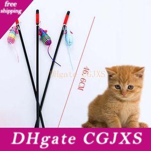 Hot Pet Cat Corde bâton Cat Interactive Sound Toy Kitten Chew Toy mignon Souris Cartoon Jouer Jouet
