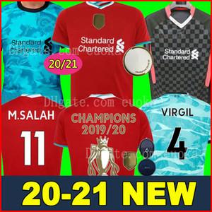 LVP Mohamed M. Salah Fußball-Trikot 2020 2021 Fußballhemd 20 21 FIRMINO VIRGIL MÄHNE LIVERPOOL Männer Kinder-Kit Frauen jersey