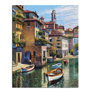 Venice boat 20x25 New Full Area Highlight Diamond Needlework Diy Diamond Painting Kit 3D Diamond Cross Stitch Embroidery