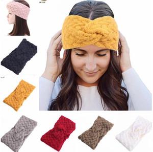 Geniş Kış Kaşmir hairbands Sıcak Örme Tığ twist Bantlar Kış Kulak Isıtıcı Elastik Saç Bantları Headwrap Kafa Saç Aksesuarları