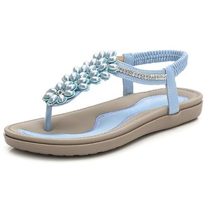 LEOSOXS Moda Kadınlar Plajı Ayaklı Sandalet Boncuk Bayanlar Teenslippers Kadınlar Yaz Ayakkabı nefes Rahat Sandalen Floplar