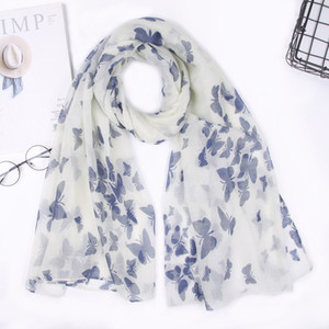 New style scarf European and American butterfly print scarf cheap scarf ladies LY058