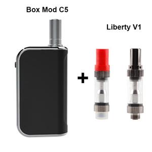Wholesale Komodo C5 E-Cigarette Thick Oil Vape Kit 400mAh Box Mod Battery with Liberty V1 Refillable Vaporizer Cartridge