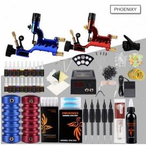 Completa la máquina del tatuaje 2 Máquina rotatoria del arte del tatuaje del arma juego de tintas Conjunto de alimentación LED de alimentación del tatuaje del cuerpo Conjunto de pigmentos de maquillaje pFG6 #