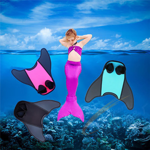 Pool Fins Foot Fins Swimming Fins Mermaid Tail Diving Flippers Submersible Snorkeling Adult Child Flexible Comfort Portable