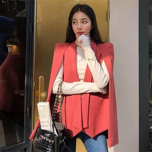HziriP Cape Şal WINDBREAKER 2020 Yeni Kadın Hendek Moda Kadın Plus Size Şık Kalın Zarif Yün Streetwear Palto Isınma