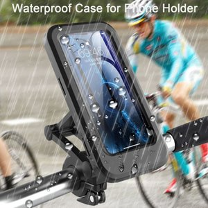 Motorcycle Waterproof Case for Mobile Phone Bicycle CellPhone holder Folding GPS Bag Support for 6.5 inch Max Smartphones