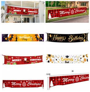 하우스 홈 파티 장식에 서명 메리 크리스마스 배너 트리머 할로윈 대학원 생일 축하 배너 대형 크리스마스는 3M 소품 * 50cm FFA4367