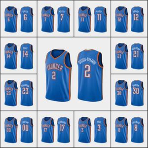 OklahomaVilleTonnerreHommes Justin Patton Shai Gilgeous-Alexander Chris PaulNBA Basketball Association des blancs personnalisée Jersey