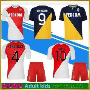 Top Thai Quality 2020-21 AS Monaco Soccer Jersey 20 21 Jovetic Fabregas GOLOVIN CHADILI GELSON .MM Maillot de Foot Football Shirt