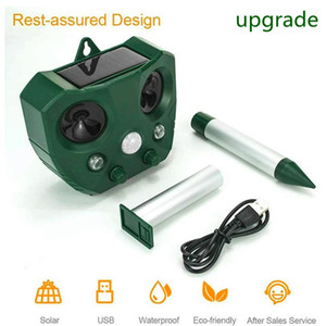 Ultrasonic Garden Ultrasonic Solar Insect Repeller Cat Dog Fox Pest Battery Repeller Deterrent Repellent Garden Pest Control Supplies
