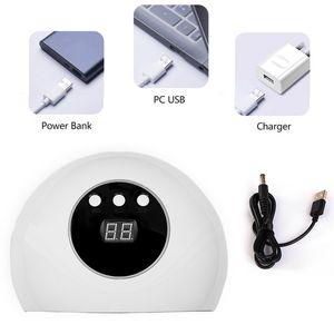 CYSHMILY USB UV LED Tırnak Lambası 36W Polonya Nail Işık Terapi Makinesi Kurutucu İndüksiyon Hızlı kuruyan Lambası için Manikür Araçları