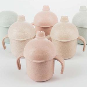 BPA Free! 240 ML Grade PP Leakproof Baby Sippy Cups Baby Handle Learn Drinking Cup Drinkware Handle Vasos Para Bebes