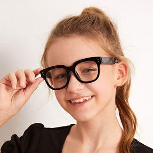 Mode Anti-bleu clair Enfants Lunettes de protection Garçon Fille ordinateur lecture Jeu Goggle ordinaire Enfants Round Anti Bleu Lunettes