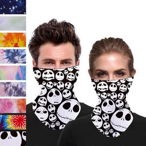 EU Stock baratos Mulheres Natal Rosto Scarf máscara de seda Lenço exterior Windproof Meia Face à prova de poeira do pára-sol mágico Lenços Máscaras FY6098