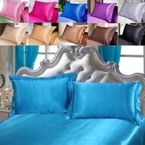 الساتان الحرير الثلج المخدة البهجة مستطيل سادة القضية وسادة أريكة الرئيسية السيارات ديكور مشرق ويغطي وسادة 48 * 74CM HH9-3212
