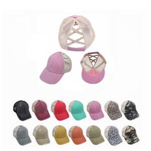 2020 At Kuyruğu Beyzbol Şapkası Kadınlar Sıkıntılı Yıkanmış Pamuk Caps Casual Yaz Snapback Şapka Glitter Brim Saten Dağınık Şapkalar IIA303