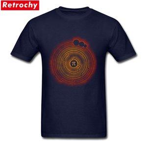 de Pi Matemáticas hombre Classic Fit Manga corta camiseta cuello redondo 100% algodón hilado en anillos de cultivos de impresión personalizada Círculo T-Shirts para Hombre