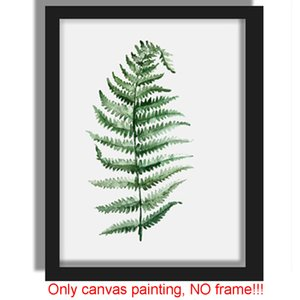 Plants Canvas Art Print Poster Green Leaf Painting on Canvas Wall Pictures for Living Room Home Decor