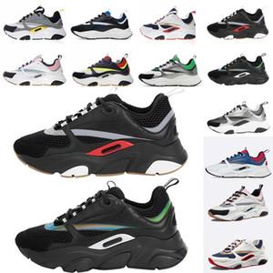 Dior B22 Sneaker Erkek Tasarımcı Ayakkabı bağbozumu Sneakers Tuval Ve Dana derisi Eğitmenler Lüks Unisex Düşük En Casual Ayakkabı 20color Büyük boy 35-4 qBYm #