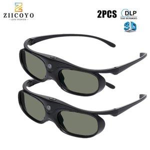 2 stücke Universal DLP Active Shutter 3D Gläser 96-144Hz für Xgimi Optoma Acer ViewSonic Theatre Dell Projektor 3D TV