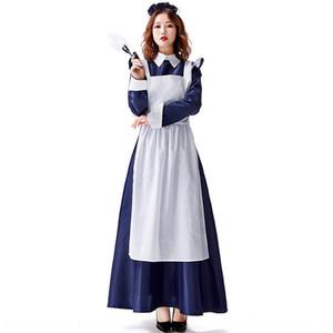일본식 버틀러 유니폼 진한 파란색 의류 오후 차 네바다 용인 쿵푸 네바다 용인 쿵푸 드레스는 드레스 하녀 의류 녀