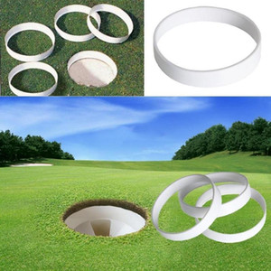 20pc White Plastic Golf Putting Green Hole Cup Ring Training Aid Accessory Golf Field Outdoor sports Equipment Backyard Practice