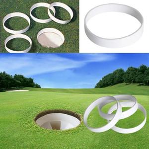 20pc weiße Kunststoff-Golf-Grün Loch Cup Ring-Ausbildungshilfe-Zubehör Golf-Feld im Freien Putting Sportgeräten Hinterhof Praxis