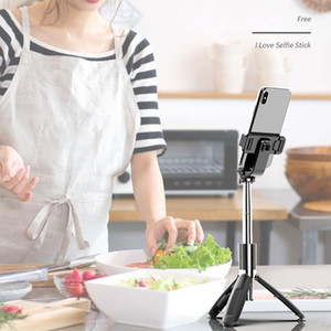 3 en 1 mini portátil inalámbrico Bluetooth selfie palillo de trípode plegable trípode Monopods universal para el teléfono elegante