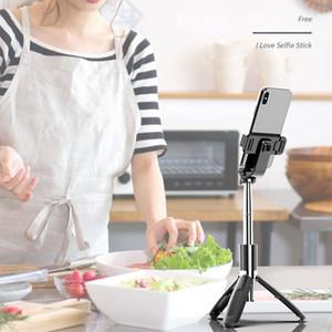 3 In 1 Mini Portable Wireless Bluetooth Selfie Stick Tripod Foldable Tripod Monopods Universal For Smart Phone