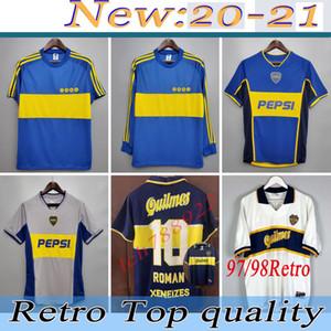 Top 1981 Boca Juniors Retro-Trikots der klassischen Weinlese Maradona Fußball Jersey 1981 RIQUELME Fußballhemd ROMAN maillot de foot