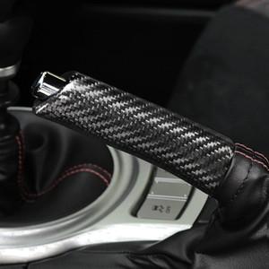 Interior del coche de fibra de carbono freno de mano cubierta de la manija de agarre del protector de freno de mano Accesorios para Subaru BRZ Caso Toyota 86 2013-2020