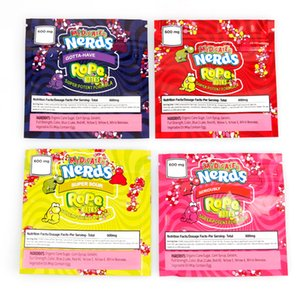 Nerds Corda mordidas saco de embalagem vazia sacos 600mg Package armazenamento Retail Bolsa para Dry Herb Flower Tobacco
